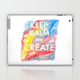 Watercolor Keep Calm and Create Laptop & iPad Skin