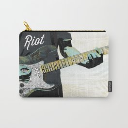 Music Piece of a Person Playing Guitar Carry-All Pouch