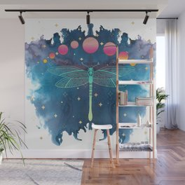 Cosmic Dragonfly Wall Mural