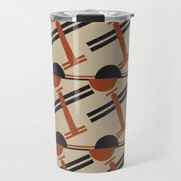 soviet pattern - constructivism Travel Mug