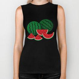 Watermelon Pattern Biker Tank
