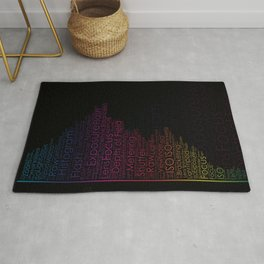 Photography Terms Word Cloud Histogram Rug