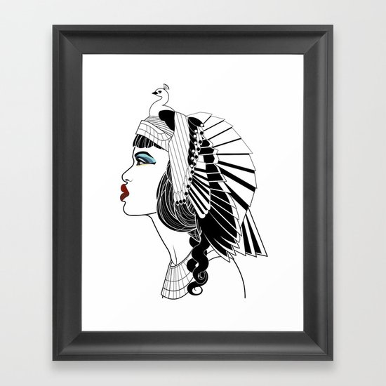 Queen of The Nile. Framed Art Print