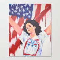 the national Canvas Prints featuring National Anthem by MariaBertosh