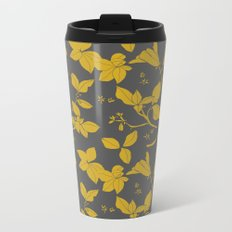 Drawings from Stonecrop Garden, Pattern in Gold & Grey Metal Travel Mug