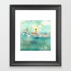 The Queen Mermaid Framed Art Print