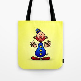 Cheerful circus clown Tote Bag
