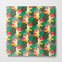 Tropical Bananatoos Metal Print
