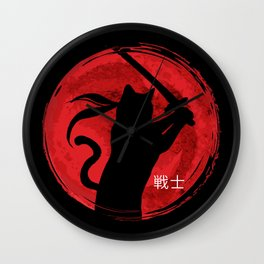 Neko Warrior Wall Clock