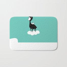 Flying Alpaca by Amanda Jones Bath Mat