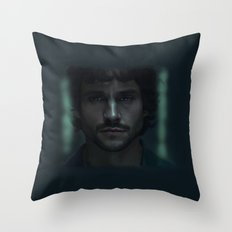 Alone in darkness Throw Pillow