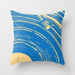 blues vinyl Throw Pillow