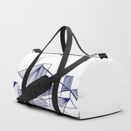 Polygon collections - blue triangle Duffle Bag