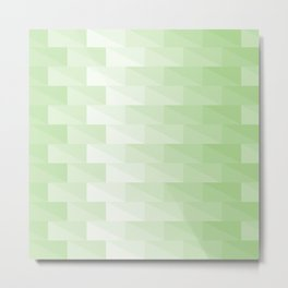 Triangles in green tones with 3d depth effect Metal Print