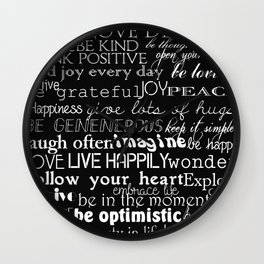Inspirational Words Wall Clock