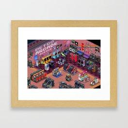 Retro Arcade Framed Art Print