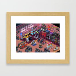Retro Arcade Framed Art Print
