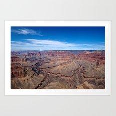 Grand Canyon Afternoon Blue Sky Art Print