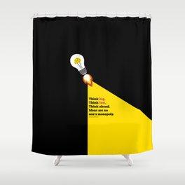 Lab No. 4 - Think Big Dhirubhai Ambani Reliance Corporate Startup Quotes Poster Shower Curtain