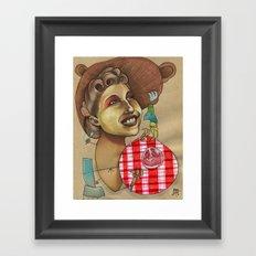 Lion Picnic Framed Art Print