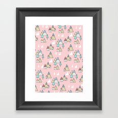 PINK MAGIC FOREST Framed Art Print