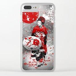 Sakura fubuki Clear iPhone Case