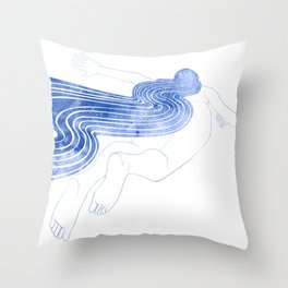 Water Nymph XLVII Throw Pillow