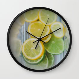 Lemon + Lime Wall Clock
