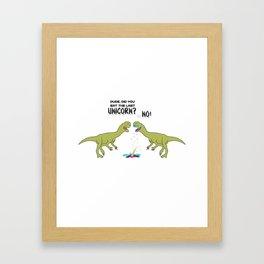 The Last Unicorn TRex Eaten Dino Gift Framed Art Print