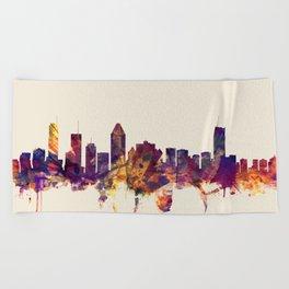 Montreal Canada Skyline Beach Towel