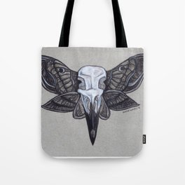 Crow Skull w/Moth Wings Tote Bag