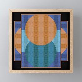 Orange Blues Geometric Shapes Framed Mini Art Print