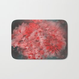 Abstract Red Flowers Bath Mat
