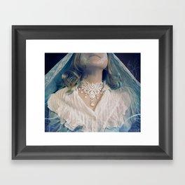 Ice Queen Choker Framed Art Print