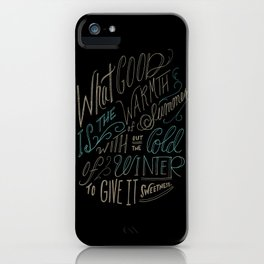 WINTER - Steinbeck Quote iPhone Case