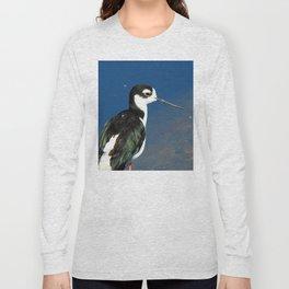Juvenile Black Necked Stilt Long Sleeve T-shirt