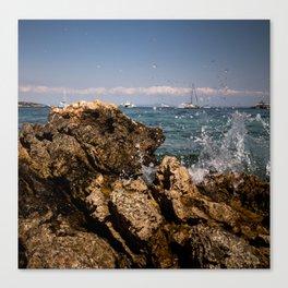 Rocks in Palma de Mallorca Canvas Print