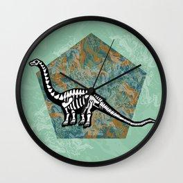 Brachiosaurus Fossil Wall Clock