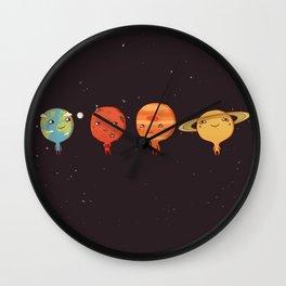 planet sun earth cute art new hot 2018 style cuteness star stars Wall Clock