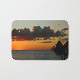 Naples Pier Sunset Bath Mat