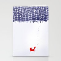 shaun of the dead Stationery Cards featuring Alone in the forest by Robert Farkas