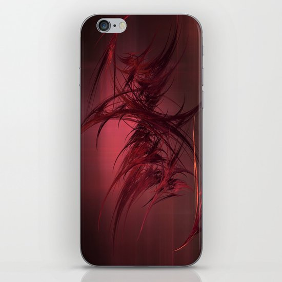 Red abstract iPhone & iPod Skin