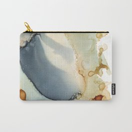 Abstract in amber and grey Carry-All Pouch