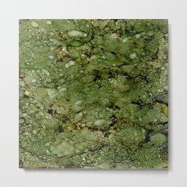 Green Camo Metal Print