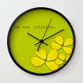 the perks of being a wallflower :: stephen chbosky Wall Clock
