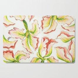 Pink Iris Cutting Board