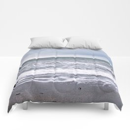 Cloudy Day on the Beach Comforters