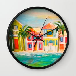 Beach houses Wall Clock