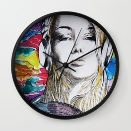 Music is my drug Wall Clock