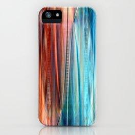 Pattern orange and blue iPhone Case